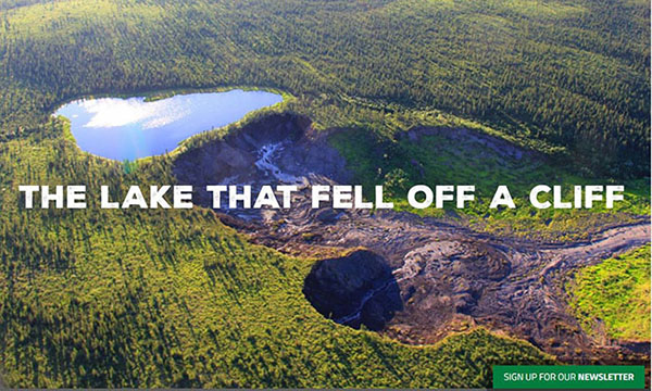 lake that fell off a cliff