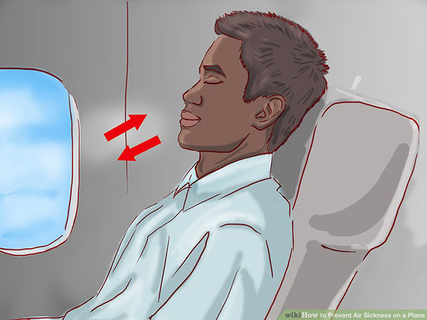 prevent Air Sickness on a Plane Step 2 4