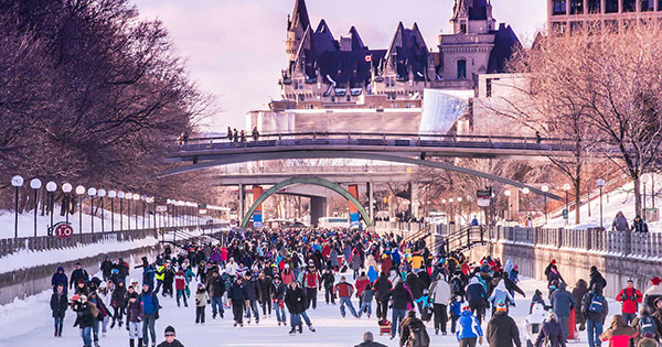 Winterlude canal ice