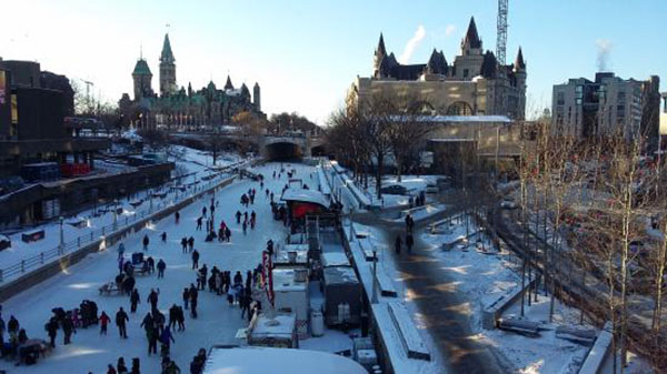 rideau ottawa winter 2