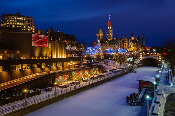 rideau ottawa winter
