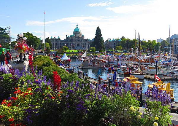 Inner Harbour Causeway Downtown Victoria BC